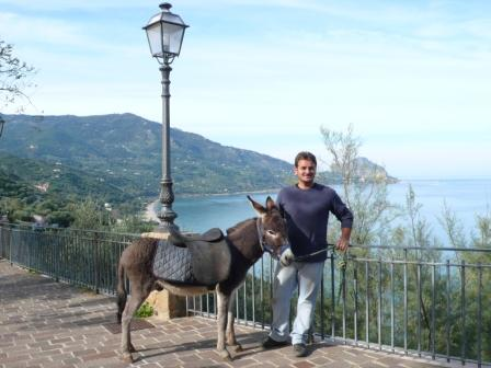 Belvedere with the donkey Nino