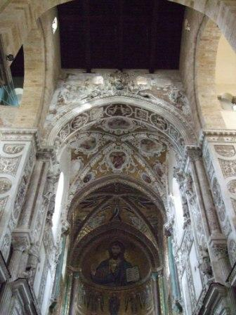 magnificent mosaic inside the Cathedral of Cefal�